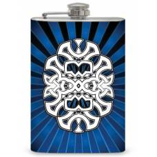 "8oz ""Celtic Knot with rays"" Flask"