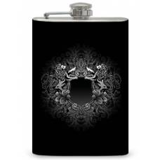 "8oz ""Lion Crest"" Flask"