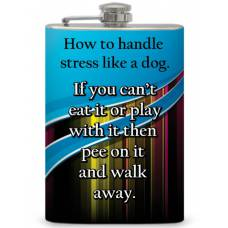 "8oz ""How to Handle Stress"" Flask"