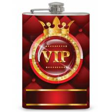 """8oz """"VIP"""" Flask with Bling"""