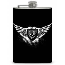 "8oz ""Winged Skull Badge"" Flask"