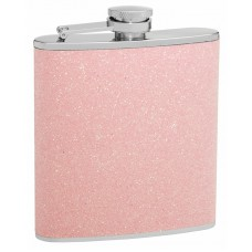 6oz Pink Glitter Flask; Sparkles in the Light!