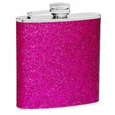 6oz Purple Glitter Flask; Very Sparkly
