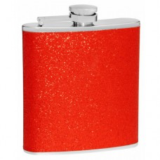 6oz Red Glitter Flask; Shimmers in the Light!