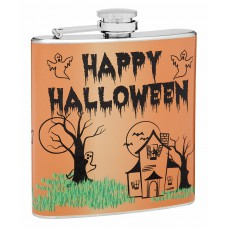 6oz Happy Halloween Hip Flask