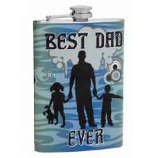 "8oz ""Best Dad Ever"" Hip Flask for Men"