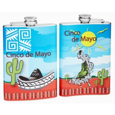8oz Cinco De Mayo Hip Flask