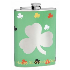 8oz Lucky Clover Cut-Out Drinking Flask