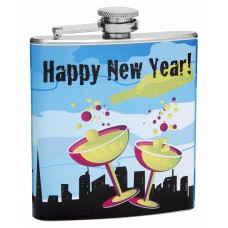 6oz Happy New Year Champagne Flask