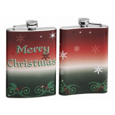 Merry Christmas 8oz Hip Flask