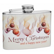 Merry Christmas and Happy New Year 4oz Hip Flask