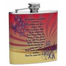 "6oz ""God Made a Wanderful Mother"" Hip Flask"