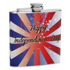"6oz ""Happy Independence Day"" Hip Flask"