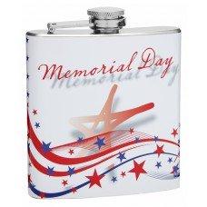 6oz Memorial Day Hip Flask