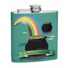 6oz Saint Patrick's Day Holiday Hip Flask