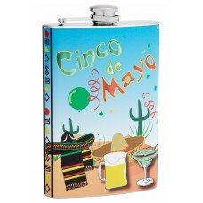 8oz Cinco De Mayo Holiday Hip Flask