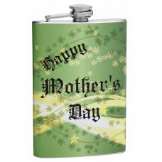8oz Green Happy Mother's Day Hip Flask