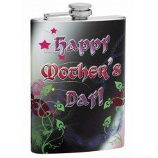 8oz Happy Mother's Day Themed Hip Flask