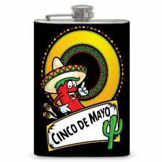 "8oz ""Cinco De Mayo"" Flask"