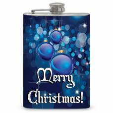 "8oz Christmas ""Blue Balls"" Flask"