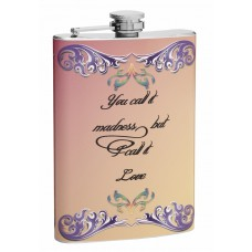 "8oz ""I Call it Love"" Hip Flask for Weddings or Anniversaries"