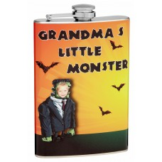 "8oz Insert Your Own Photo ""Grandma's Monster"" Hip Flask"