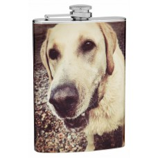 8oz Design Your Own Pet Photo Hip Flask