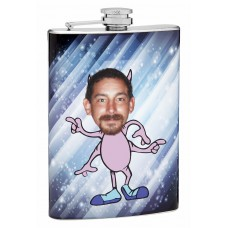 8oz Insert Your Own Picture Silly Pink Monster Flask