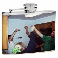 "4oz ""Create Your Own"" Hip Flask with your Picture or Photo"