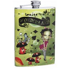 8oz Insert Your Own Picture Betty Boop in Wonderland Flask