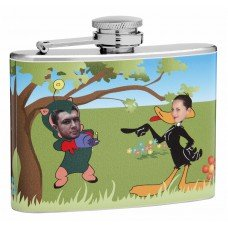 4oz Insert Your Own Photo Loony Tunes Flask