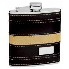 6oz Leather Flask for Men with Engraved Monogram