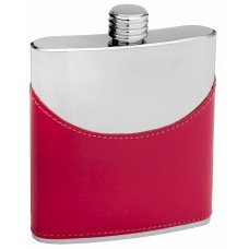 6oz Half Pink Hip Flask