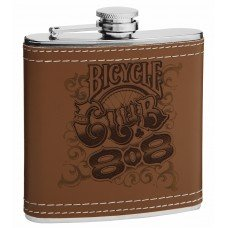 Personalized 6oz Leather Hip Flask