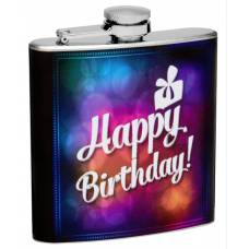 "6oz ""Happy B-Day"" Flask"