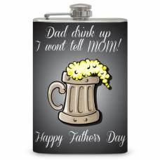 "8oz The ""Happy Father's Day"" Flask"