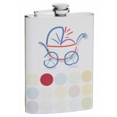 8oz Flask to Congratulate the Birth of a Child