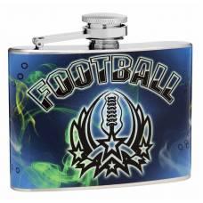4oz Football Theme Hip Flasks