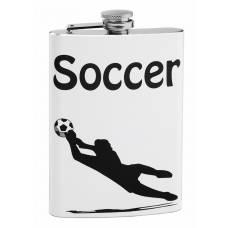 8oz Soccer Theme Hip Flask