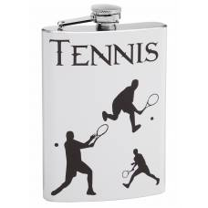 Tennis Theme 8oz Hip Flasks