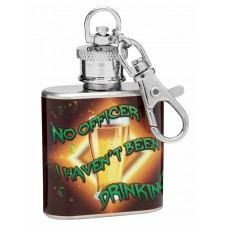 "1oz ""No Officer, I haven't Been Drinking"" Keychain Hip Flask"