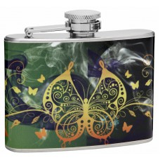 "4oz ""Beautiful Butterflies"" Hip Flask"