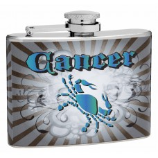 4oz Sign of the Zodiac Flask, Cancer the Crab