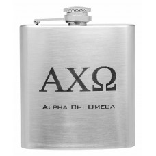 6oz Personalized Sorority Hip Flask with Greek Letters