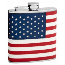 "6oz ""The Patriot"" American Flag Flask"