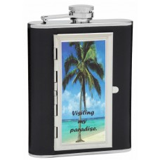 Design Your Own 6oz Cigarette Holder Hip Flask