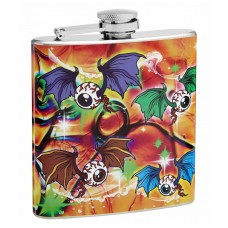 "6oz ""Flying Eyeballs"" Hip Flask"