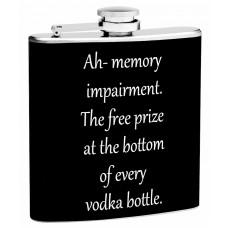 6oz Memory Impairment by Vodka Hip Flask