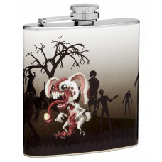 6oz Rabbit Zombie Hip Flask