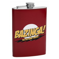 "8oz ""Bazinga"" Hip Flask, The Big Bang Theory"